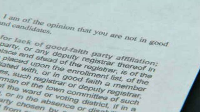 Miller was sent a letter telling her she was no longer a member of the republican party in town (WFSB)