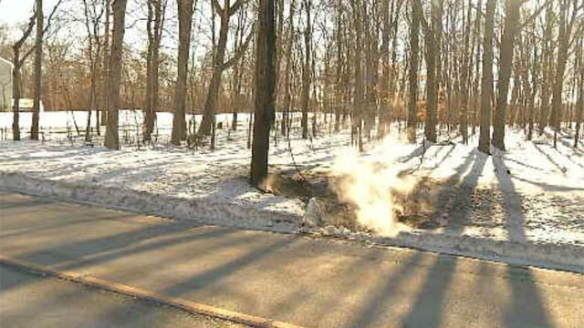 It appears a smoking wire from a utility pole may have caused fires at two homes on Sunday (WFSB)