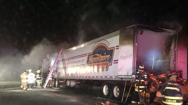 That stretch of I-84 eastbound in Tolland was closed Sunday morning for more than six hours. (Tolland Alert)