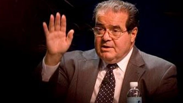(AP Photo/Chris Greenberg, File). FILE - In this Oct., 15, 2006 file photo, Supreme Court Associate Justice Antonin Scalia speaks at the ACLU Membership Conference in Washington.
