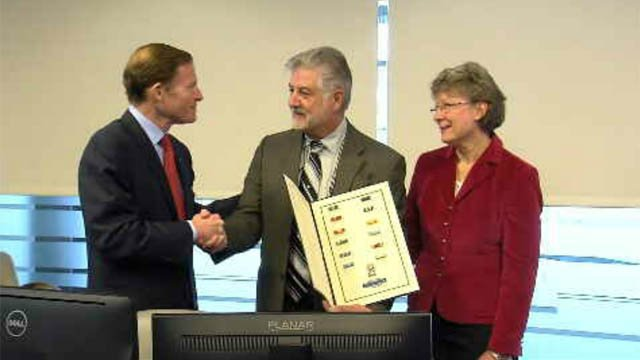 The family of Lt. Colonel Robert Mitchell received his long overdue military medals and ribbons on Monday (WFSB)