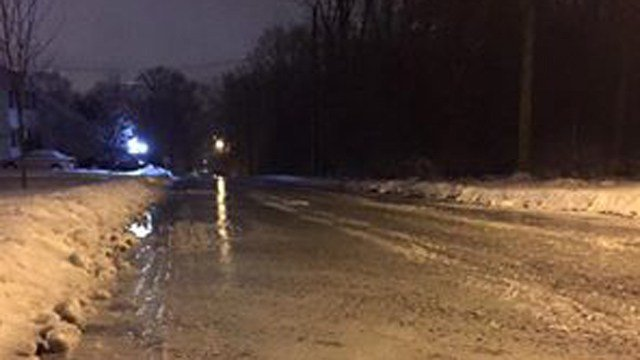 The road conditions in Torrington. (Mario Maloid/iWitness photo)