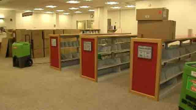 The children's library in Wallingford closed because of frozen pipes and heavy water damage. (WFSB)