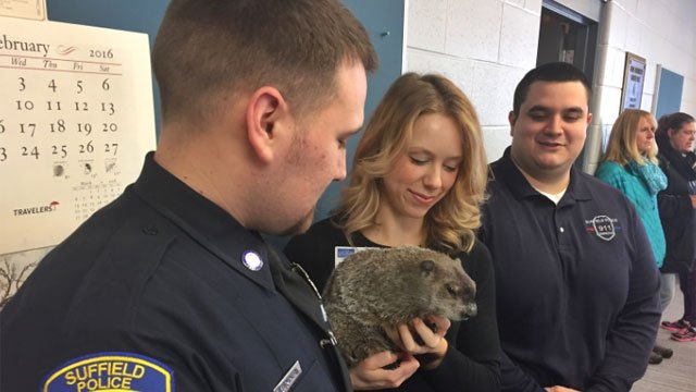 Chuckles was pardoned by the Suffield Police Department on Thursday afternoon. (WFSB photo)