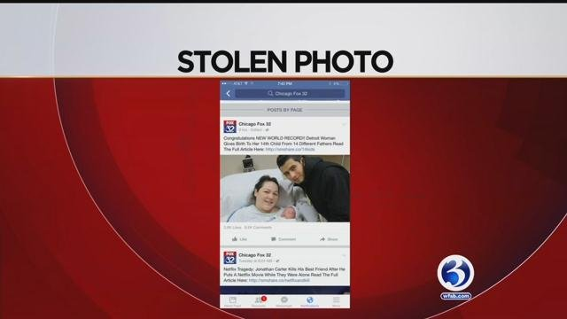 A Milford mom claimed her family's picture was stolen online and later used in afalse news article, tarnishing her reputation. (WFSB)