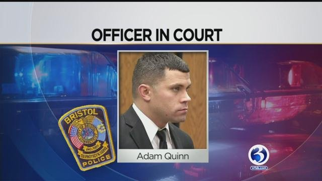 Officer Adam Quinn threatened to kill his supervisor, Officer Craig Duquette. (WFSB)
