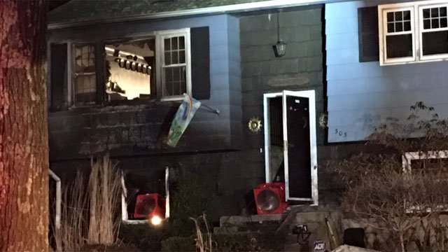 Second alarm fire breaks out in basement at home in Tolland on Friday night. (WFSB)