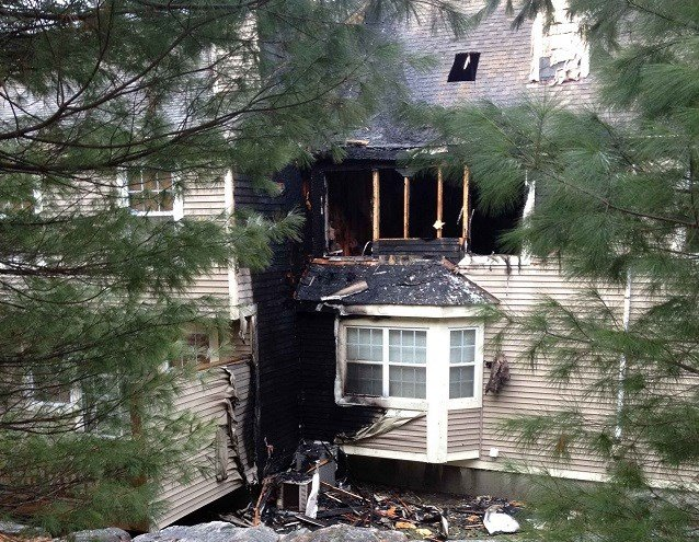 Crews responded to a bedroom fire at a large condo complex on Foxboro Drive just before 7 a.m. (WFSB)