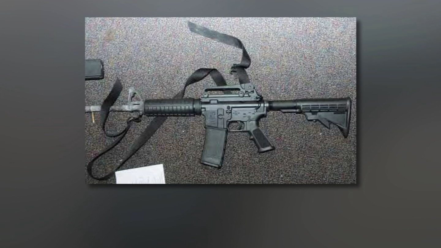 The AR-15 rifle used in the Sandy Hook Elementary School shooting. (State police file photo)