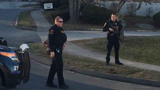 A heavy police presence was reported in the area of Sandy Lane at about 4 p.m. on Monday. (Norwich Bulletin)