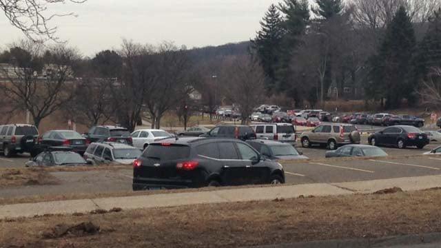 Bristol Central High School was scheduled to dismiss at noon. (WFSB photo)