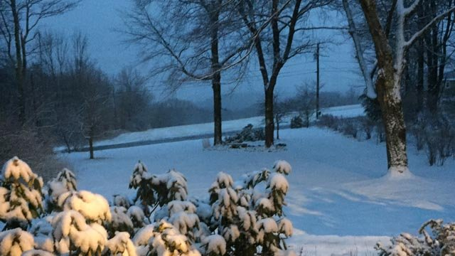 The town of Colebrook looking south to Winsted and Torrington early Wednesday morning. (Rich/iWitness photo)