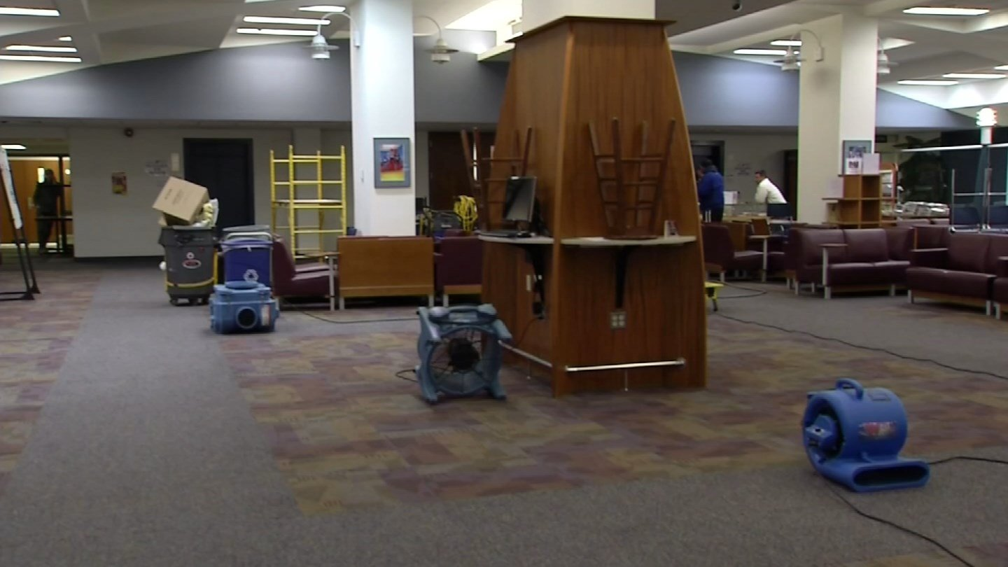 The CCSU library on Feb. 15. (WFSB file photo)
