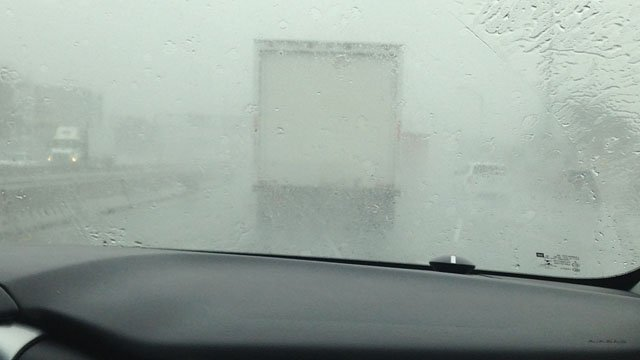 The conditions on I-95 in New Haven as seen from the Early Warning Weather Tracker. (WFSB photo)