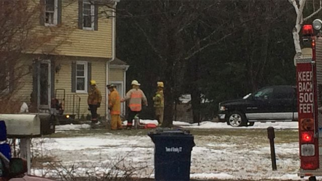 Firefighters are investigating a fire at a home in Granby on Wednesday. (WFSB)