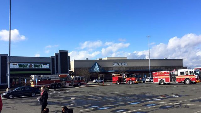Firefighters were on the scene of the leak at the mall on Thursday. (South Windsor FIRE Department)