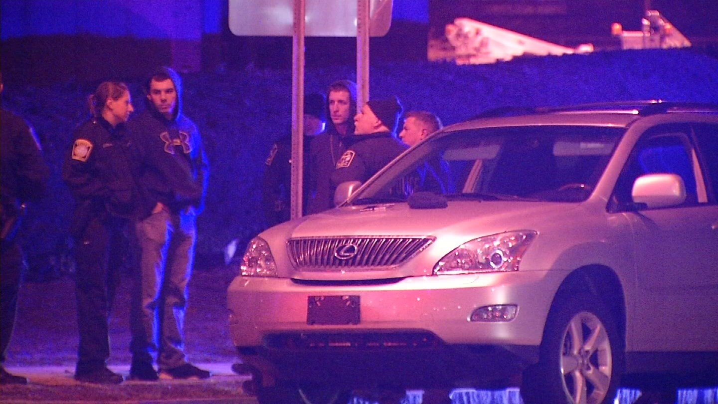 Police responded to New Britain Avenue Thursday night. (WFSB photo)