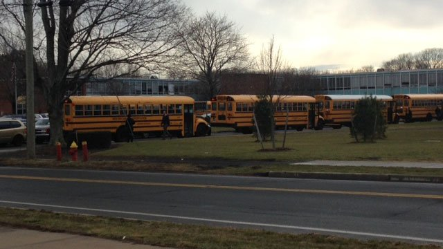 Extra officers were at Platt High until dismissal to alleviate any further issues. (WFSB)