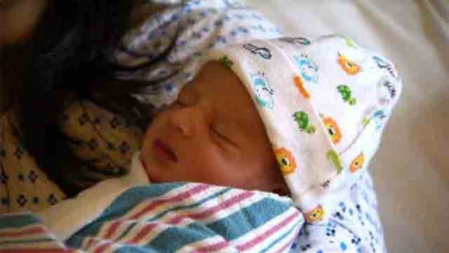 Little Yuvraji was born at 6 a.m. on Monday at UConn John Dempsey Hospital. (WFSB)