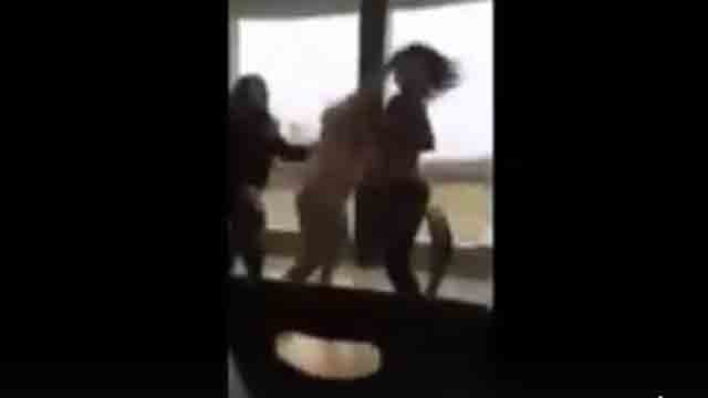 The fight between two girls was caught on camera by a student.