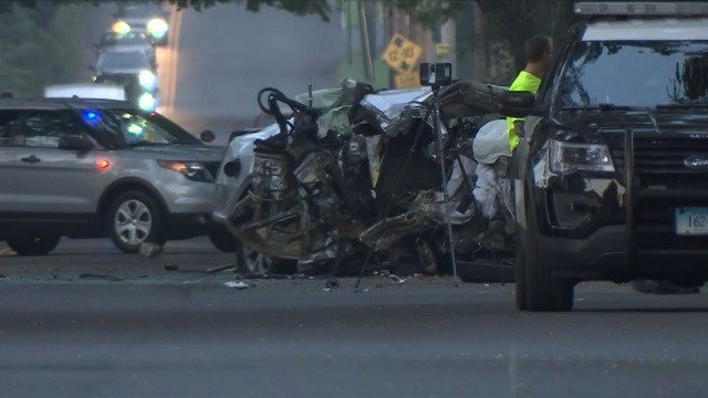 1 person is dead after a car struck a tree on Friday morning (WFSB)