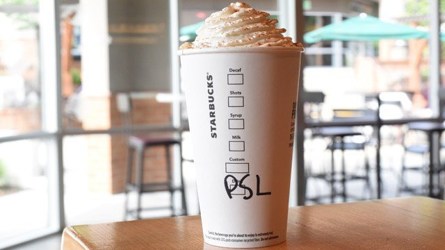 Starbucks' pumpkin spice latte. (Starbucks)