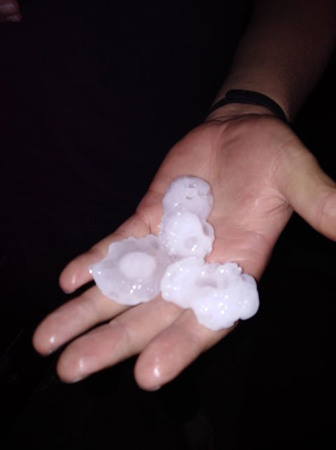 Hail in East Granby (Lisa Dickinson)