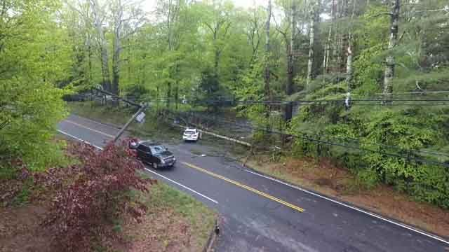 Damage was seen all over Southbury on Wednesday (WFSB)
