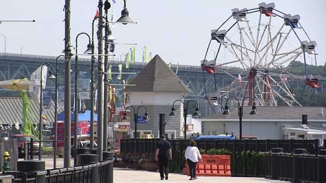 Preparations for Sailfest were underway on Wednesday (WFSB)