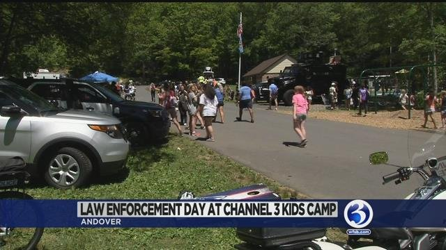 Video: Police depts. visit Channel 3 Kids Camp on Thursday