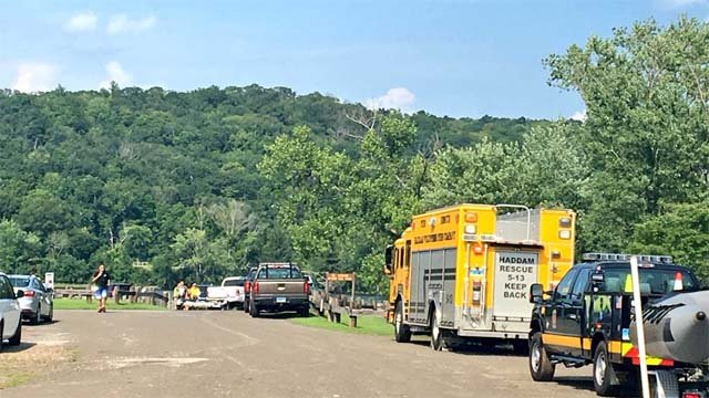 Emergency crews were called to the CT River in Haddam for a possible drowning (WFSB)